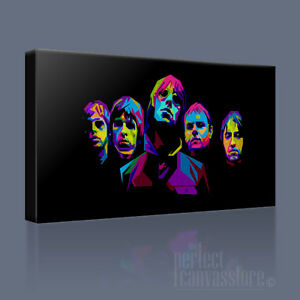 OASIS NOEL GALLAGHER ICONIC CANVAS POP ART UPGRADED to 120x56cm Art Williams