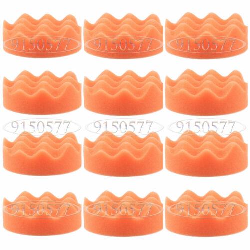 12pcs 3 in Orange Découpe polissage tampon pad Polissage Pad Pour Voiture Polisseuse environ 7.62 cm