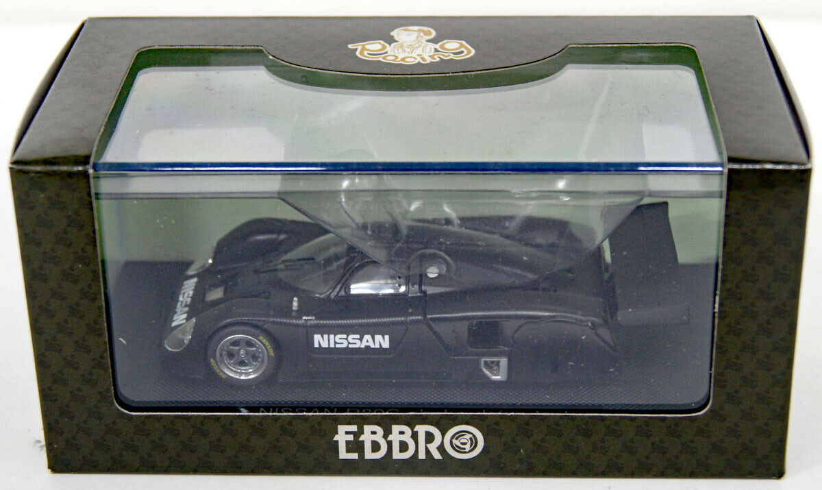 Ebbro 44790 Nissan R89c 1989 Shake Down Test Coche Negro 1 43 Escala