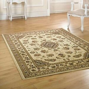 Large Small Persian Traditional Beige Carpet Rugs Runners Circle Half Moon Mats Ebay