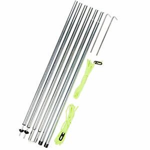 2x-Stahl-Zeltstange-mit-Spitze-und-Fuss-Dachstange-200-cm-lang-stabil-robust