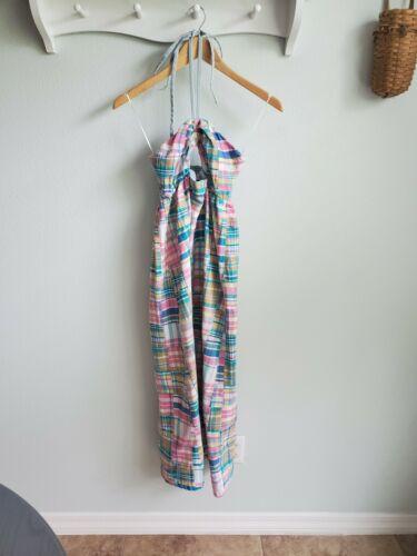 Petersyn Clothing madras plaid maxi halter dress X