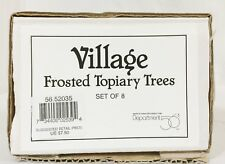 Department 56 Dept Village Frosted Topiary Trees Set of 8 Snow Heritage 5203-5