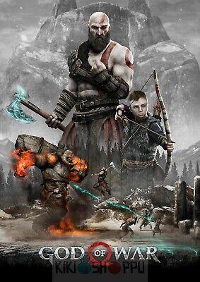 Poster A3 Kratos God Of War 4 Videojuego Videogame Cartel Decor Impresion 10