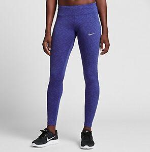 Details zu Nike Power Epic Lux Tights Blue XS S M L 831671 512 Gym Trainings Yoga