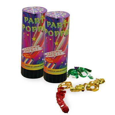 Party Popper, 2er Pack, Karneval, Silvester, Party 123403613F