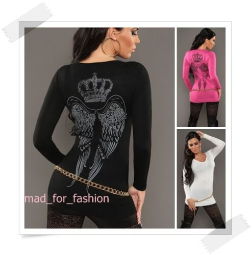 10 nero ali Koucla Sexy pullover grandi maglione 8 Print con uk Pullover AqUZv