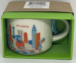 Starbucks Café You Are Here Atlanta Géorgie Céramique Mug Ornement Neuf Avec Box