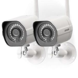 Wireless-Security-Camera-System-2-Pack-HD-Outdoor-WiFi-IP-Cameras-Night-Vision