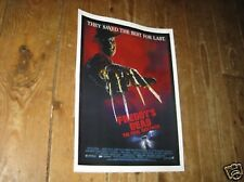 Freddy Krueger A Nightmare on Elm Street POSTER Dead