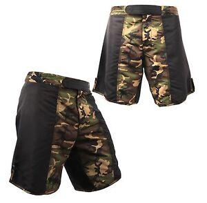 Poliestere combattimento combattimento nero da Camo da Camouflage e Sparring Pantaloncini CnXqF4xw5