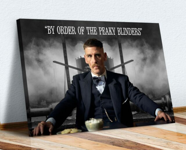 Tommy Shelby Peaky Blinders Canvas Print Art Picture A4 A3 A2 A1 Ready To Hang