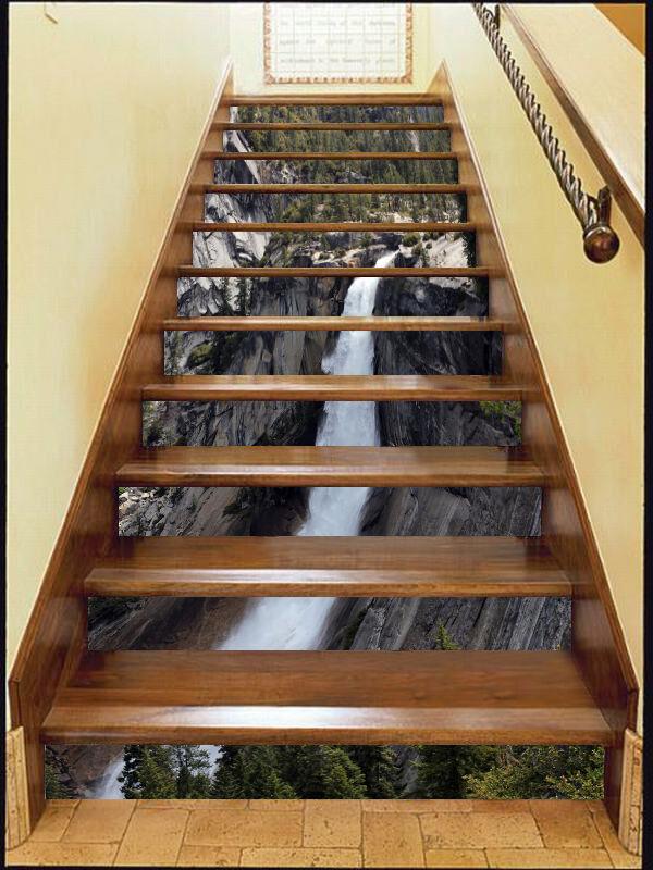 3D Schlanken Strom Stair Risers Dekoration Fototapete Vinyl Aufkleber Tapete DE