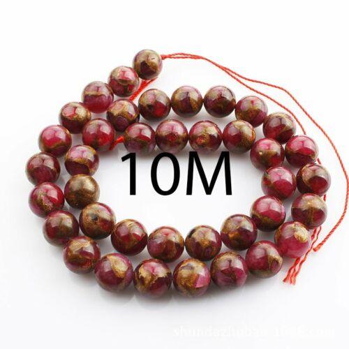 Wholesale 1 Strand Gold Sea Sediment Jasper Ball Loose Beads 15.5 in AE3343 environ 39.37 cm