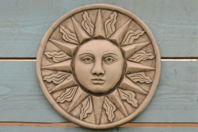 Sun Wall Plaque Stone Garden Ornament