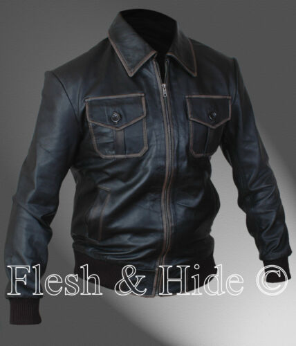 Genuine Leather Sheriff Graham Once Upon A Time Jamie Dornan Bomber Jacket