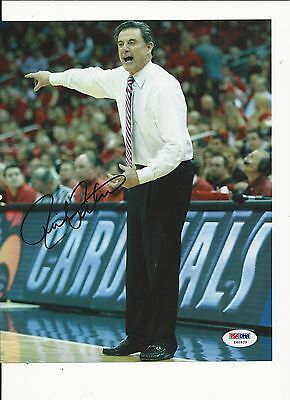 Rick Pitino Louisville Cardinals Hand Signed Color 8x10 W/psa Coa Y60929 Sports Mem, Cards & Fan Shop College-ncaa