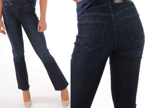 W34 Wrangler Damen Jeanshose Body Bespoke Bootcut Tainted Blue Marineblau W24