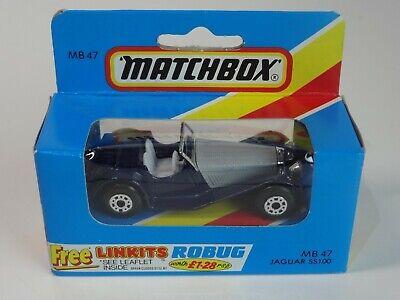 (in Buonissima Condizione) Matchbox Lesney Jaguar Ss100 - 47-mostra Il Titolo Originale