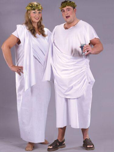 Adult Toga Costume Unisex Mens Ladies Greek Roman Fancy Dress Plus Size 16-24