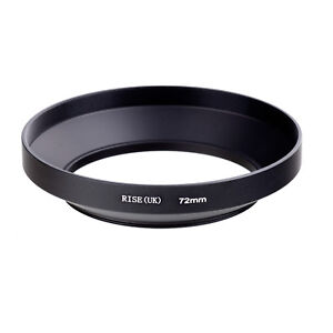 Screw-in-Mount-72mm-Metal-Wide-Angle-Lens-Hood-for-Canon-Nikon-Pentax-Sony-72-mm