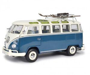 Volkswagen-VW-T1-Samba-Wintersport-1-18-Model-0376-SCHUCO