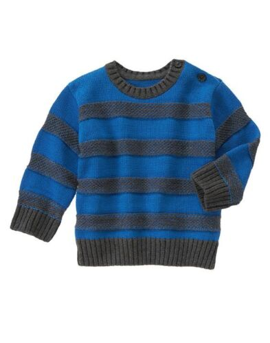 Gymboree Boy KING OF COOL Striped Crew Long Sleeve Pullover Sweater 12-18 18-24M