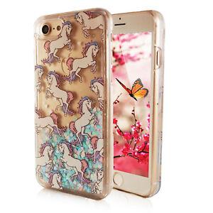 Handyhuelle-Tasche-fuer-iPhone-Samsung-mit-Aufdruck-Motiv-Crystal-Cover-Einhorn