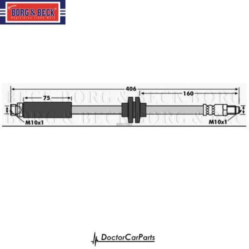 Brake Hose Rear for MAZDA 3 1.4 1.6 2.0 2.2 2.3 03-on DI MZR-CD BK BL BB