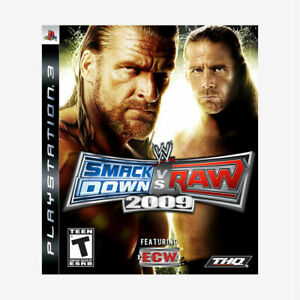WWE-SmackDown-vs-Raw-2009-Featuring-ECW-Sony-PlayStation-3-2008-with-Case