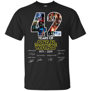 42-Years-Of-Star-Wars-1977-2019-Men-T-Shirt-S-6XL