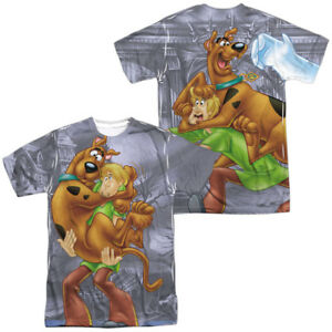 Details about Authentic Scooby Doo   Shaggy Cartoon TV Show Sublimation ALL  Front Back T-shirt 0f9d31a6c
