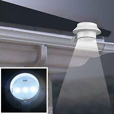 Outdoor Solar Powered 3-LED Wall Path Landscape Mount Garden Fence Light Lamp