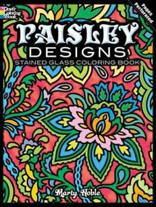 Dover Design Stained Glass Coloring Book Paisley Designs Stained