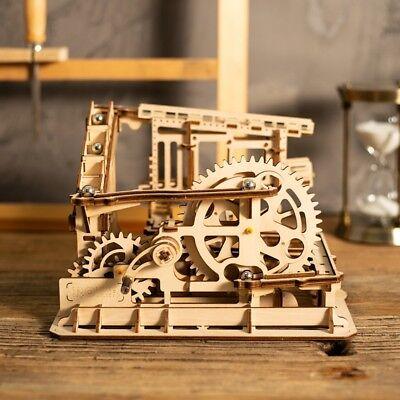 Diy Cog Coaster Gear Drive Marble Run Wooden Model Building Kits Mechanical Toy 6946785178920 Ebay