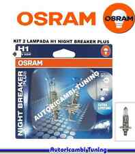 COPPIA KIT 2 LAMPADE LAMPADINE OSRAM NIGHT BREAKER PLUS +90% 12V H1 55W
