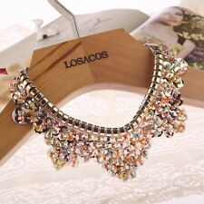 Pretty Colorful glass beads fake collar women fashion choker necklace Sequin