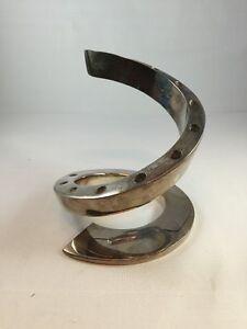 Image is loading Dansk-Designs-France-BV-Spiral-Silver-Plated-Candle- & Dansk Designs France BV Spiral Silver-Plated Candle Holder Modern ...
