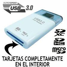 LECTOR DE TARJETAS CARD READER USB 3.0 SDXC SDHC SD MICROSD ADAPTADOR PENDRIVE
