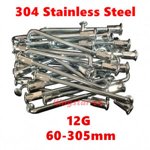 36Pcs 60-305mm 12G Electric E-bike Bicycle Wheel Tire Steel Spokes Bike Parts Pr