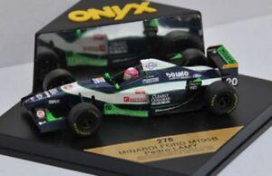 Onyx-091-092-278-279-MINARDI-FORD-F1-voiture-modele-MARTINI-Barilla-LAMY-Marques-1-43