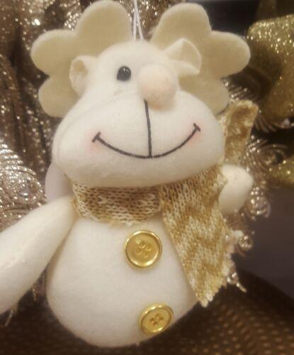 Noël Peluche Arbre Décoration babiole personnage Noël Suspendu Santa Bonhomme De Neige Lutin