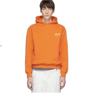AFFIX Works Standardise Print Logo Hooded Sweatshirt Safety Orange Size Medium