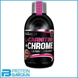 BioTech-USA-L-Carnitine-Chrome-500ml-Liquid-Reduce-Body-Fat-Vitamin-B5