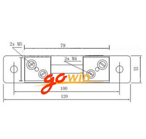 2PCS DC 75mV 40A Current Shunt Resistor For Amp Ammeter Panel Meter FL-2 NEW