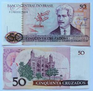 Brazil-50-Cruzados-1986-p-210a-iron-unc