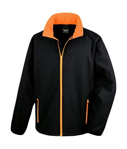 Result Core Herren Mens Printable Soft Shell Jacket S M L XL XXL 3XL 4XL Neuware