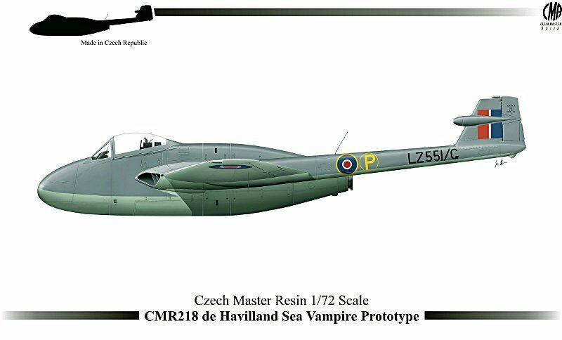 Czech Master Resin 1 72 de Havilland Sea Vampire Predotype