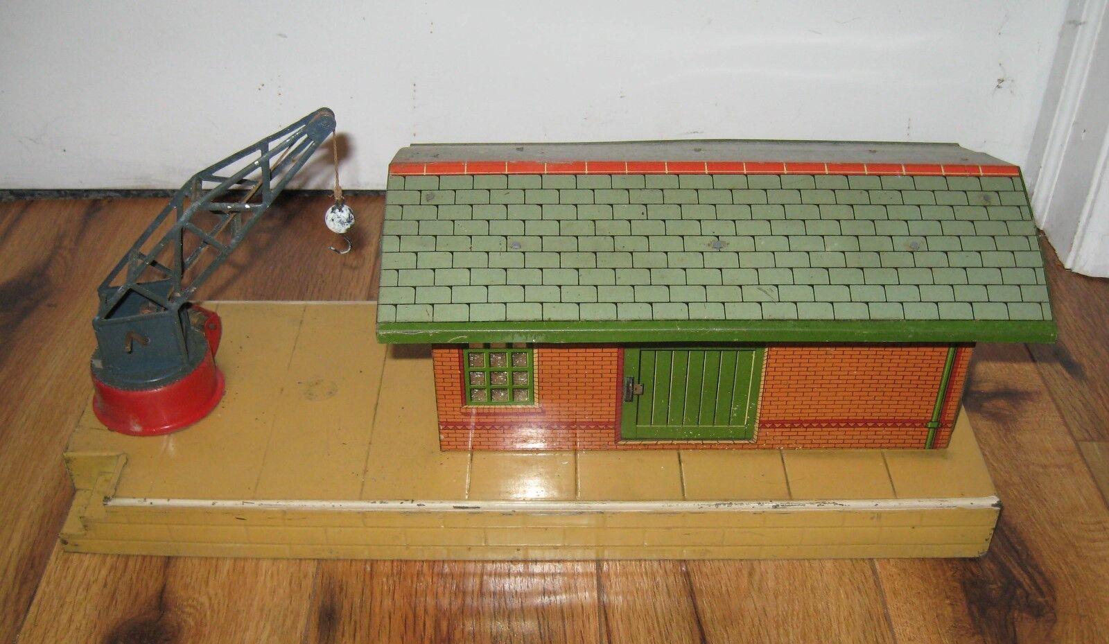 Hornby Meccano No 2 Goods Platform Crane Train Station Antique Freight Bing Bub