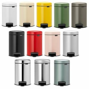 brabantia treteimer newicon 5l design abfalleimer m lleimer kosmetikeimer bad wc ebay. Black Bedroom Furniture Sets. Home Design Ideas